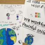 image of children's artwork for the 7 UU principles
